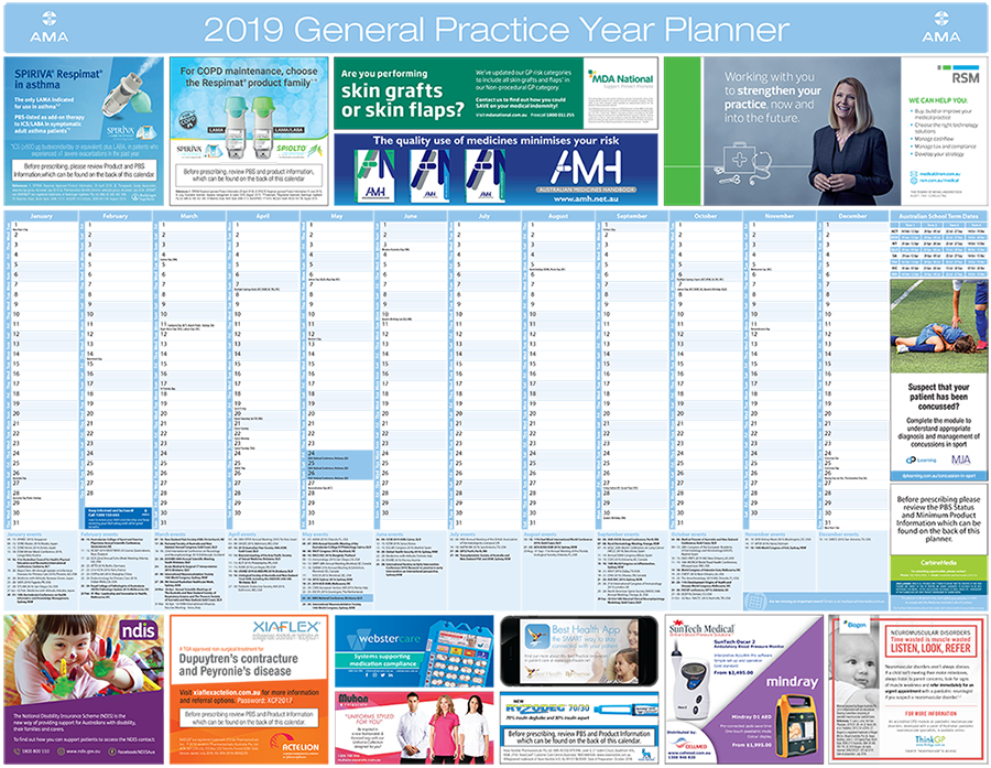 Year Planners for healthcare professionals